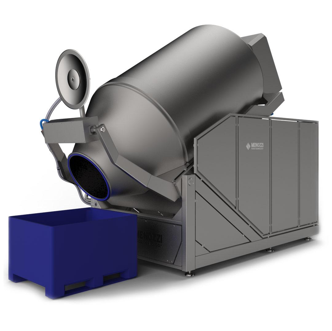 tumbler-zangola, macchine per il trattamento delle carni